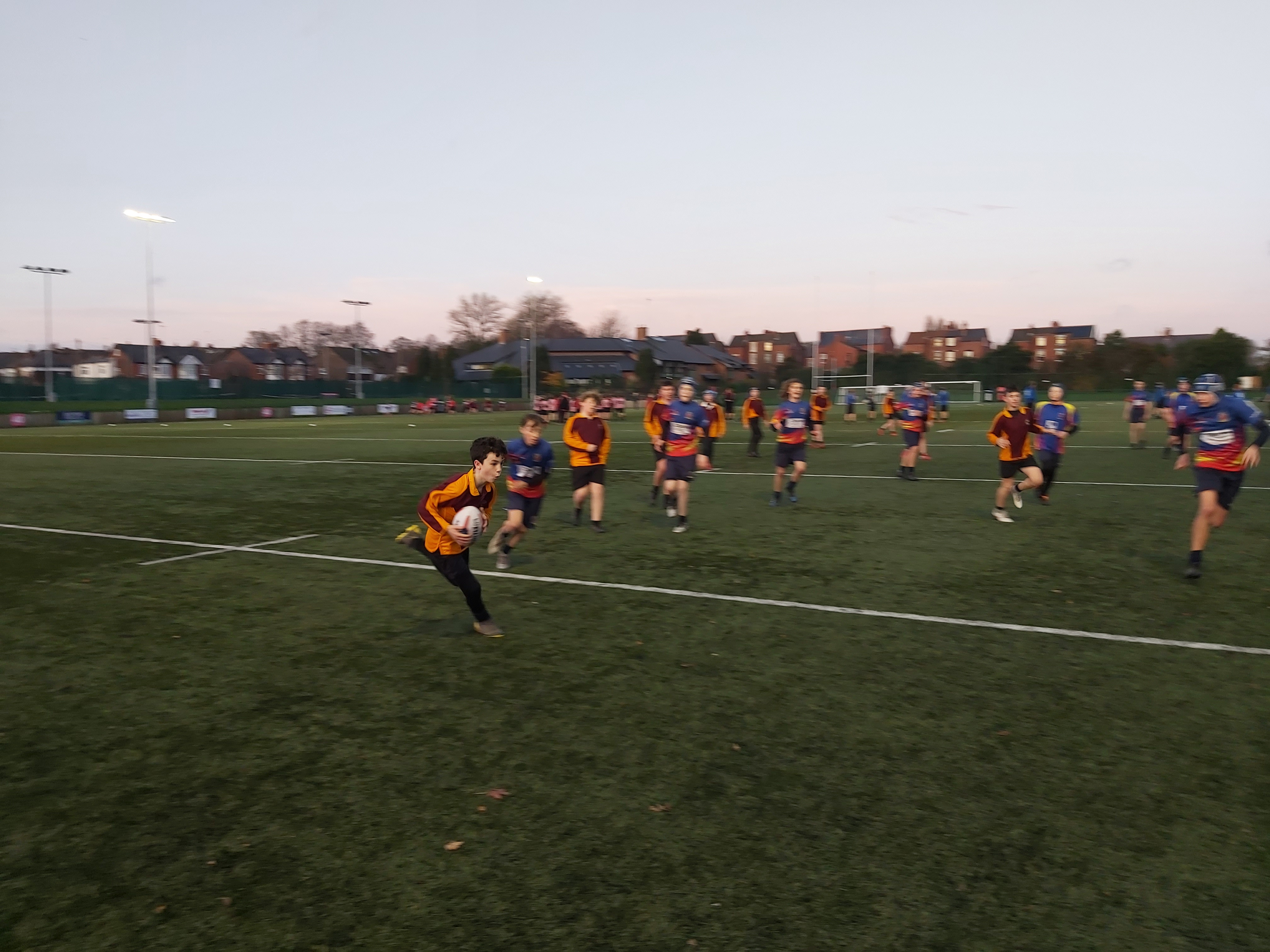 Adam B just before breaking down the De La Salle defense to score our first try of the match.